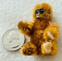 Antique Schuco Jointed Toy Monkey 2 1/2 Tall