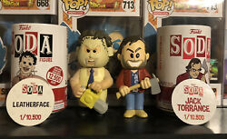 Funko Soda Pop Horror Leather Face + Jack Torrance Common Fast Shipping