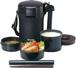 Tiger Thermos Stainless Lunch Box Vacuum Bento Box Lwu-a172-km Black