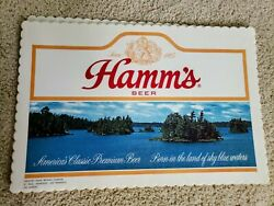 Lot Of 10 Vintage Hamms Beer Placemats