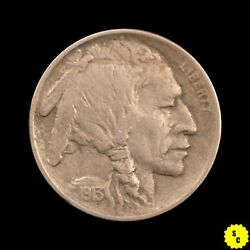 1913 Type I Buffalo Nickel, Xf Condition, Full Horn, First Year Type Coin
