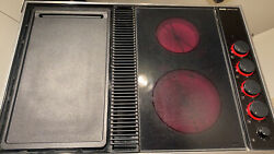Jenn-air Cvex4270b Expressions Electric Downdraft Cooktop W/griddle Glass Tested