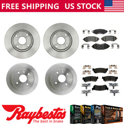 For 2004-2006 Chevrolet Optra Front Rear Brake Rotors And Ceramic Brake Pads