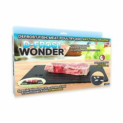 As Seen On Tv 1082 Wonder Quick Defrosting Tray, Black, Large