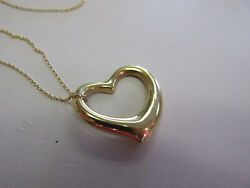 And Company 18k Gold Elsa Peretti Large Heart Chain Necklace Make Offer
