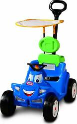 2 In 1 Ride Toy Push Pull Cart Toddler Outdoor Kids Child 4-wheel Baby Stroller