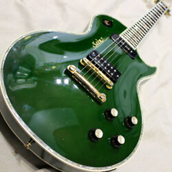 Seen Lp Custom Type See Through Green Made In Japan W/ P-90 A1694