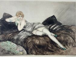 Louis Icart Les Fruits Drypoint Etching