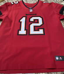 Tom Brady Tampa Bay Bucs Elite Authentic Red Home Jersey Size 52 Nwot