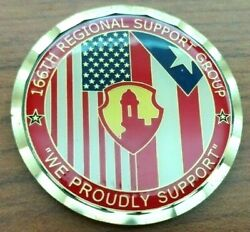 166 Regional Support Group Command Team Award Puerto Rico Army Challenge Coin
