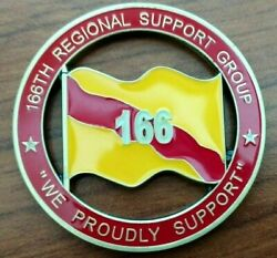 166 Regional Support Group Command Team Cut Out Puerto Rico Army Challenge Coin