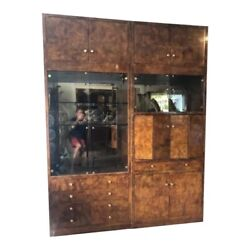 Pair Of Henredon Grand Provenance Curio Cabinet And Desk