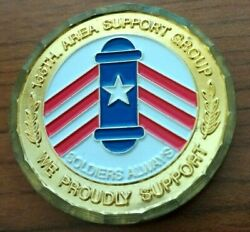 166 Area Support Group Commanders Award Piedfort Puerto Rico Army Challenge Coin
