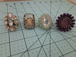 Vintage Rings Lot Of 12 Including Watch Ring