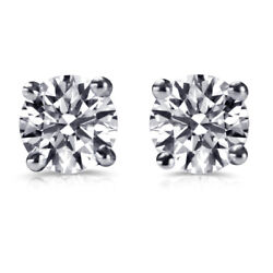 1.09 Ct Diamond Stud Earrings For Mens White Gold Male Studs Si1 D 63151898