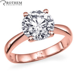 Msrp 6250 1.00 Ct Solitaire Diamond Engagement Ring Rose Gold I2 02551462