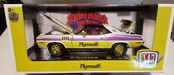 M2 Machines 2021 1/24th Chase 1971 Plymouth Cuda Rapid Transit Sealed New