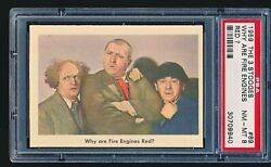1959 Fleer 3 Three Stooges Why Are Fire Engines... 89 Psa 8