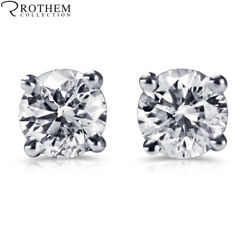 1 Ct Diamond Stud Earrings One Ct White Gold Studs Si1 Msrp 7850 34251370