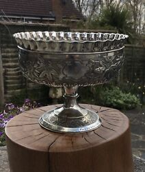 Antique Aesthetic Period Silver Plate Centrepiece Pedestal Bowl John Round And Son