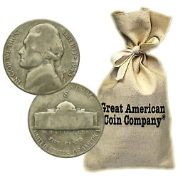 50 Face 1000 Coins Circulated War Nickels 35 Silver 1942-1945