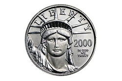 1997 To 2014 100 Platinum Eagle 1 Ounce .9995 Pure 100 Uncirculated