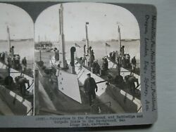 Vintage Antique Stereoview Cards Stereo View Submarines Battleships Military