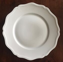 French Raynaud Limoges White Porcelain Dinner Plate Charger Paris Blanc De Chine