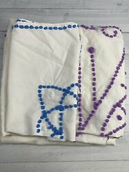 Vintage Cutter Chenille / Candlewick Bedspread Crafting Upcycle Repurpose Cotton