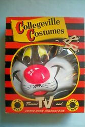 Vintage 1950s Sylvester The Cat Costume By Collegeville In Original Box - Size L