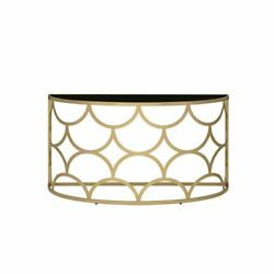 Acme Altus Console Table In Gold Finish