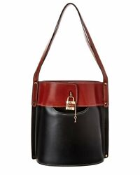 Aby Medium Bicolor Leather Bucket Bag Womenand039s Black