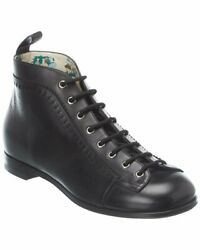 Brogue Leather Bootie Menand039s