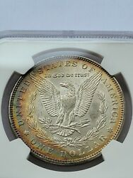 1885 1 Morgan Dollar Ngc Ms63 2 Sided Toning 90 Silver Numismatic Coin Jc80