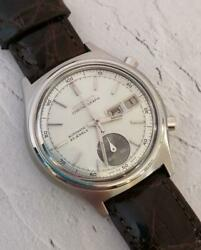 Seiko Chronograph Watch Automatic Day Date 7018-8000 1970and039s Used From Japan