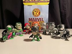 Funko Marvel Zombies Mystery Minis Lot Of 8 W/ Display Case Ships Worldwide