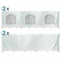 30x30 Tent Sidewall Kit 7'h Solid And Cathedral Window Block-out 16 Oz Vinyl Panel