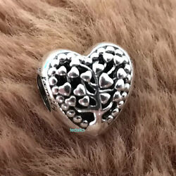 Authentic 925 Sterling Silver Family Tree Heart Charm People Fit Moment Bracelet