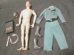 Vintage Gi Joe Airborne Military Police Figure W/ Green Outfit And Accessories