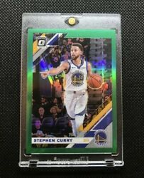 19-20 Panini Optic Green Holo Prizm /5 Stephen Curry Golden State Warriors
