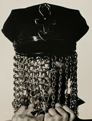 1991 Vintage Music Artist By Herb Ritts Police Hat Chains Photo Engraving