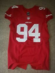 San Francisco 49ers Solomon Thomas Team Issued Signed Jersey Nfl Game