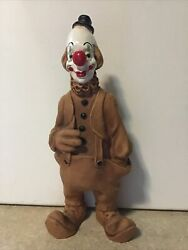 ANDREOLI CLOWN 78 TAN POLY RESIN VINTAGE 1978 HAND IN POCKET BIG RED NOSE