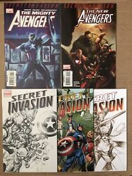 Secret Invasion 1 2nd 3rd Print The New Mighty Avengers 13 40 Sketch Variant Lot