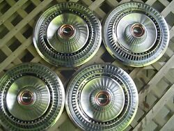 Classic Vintage 1966 66 Ford T Bird Thunderbird Hubcaps Wheel Covers Center Caps