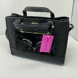 Betsey Johnson Kitch Tote Black Bag with Pouch $59.00