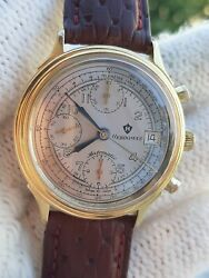 Hebdomas Watch Automatic Valjoux 7750 Chronograph Date Mens 37mm Swiss Serviced