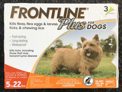 3-doses Frontline Plus For Small Dogs 5-22lbs 3 Month Supply Fast Shipping