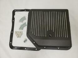 Turbo 350 Black Aluminum Finned Transmission Pan Th350 Bolts And Gasket Gm Chevy