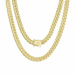 10k Yellow Gold Solid 6mm Mens Miami Cuban Chain Pendant Necklace Box Clasp 28